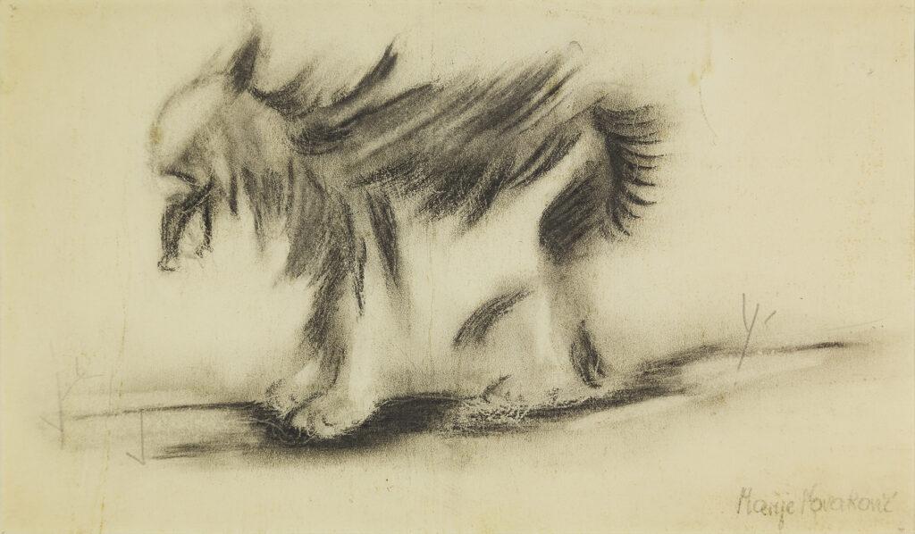 Marija Novakovic (Croatie 1885 - 1960), Wolf, 30 septembre 1951